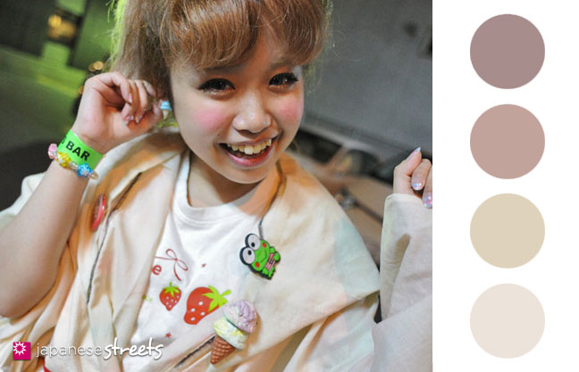 Japanese fashion colors: beige