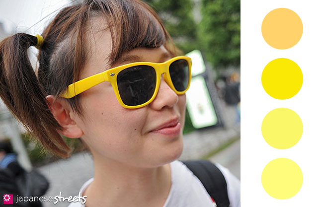 Yellow Color Trends in Harajuku