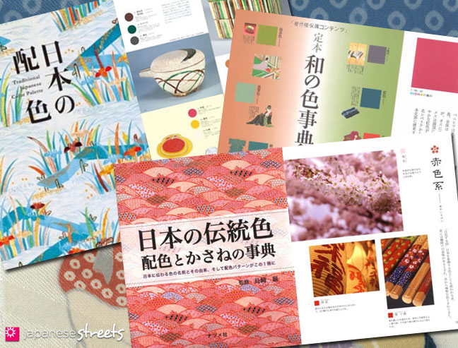 Books about traditional Japanese colors