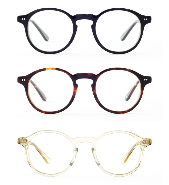 Glasses from Japan inspired by fond types