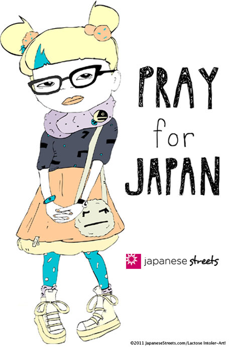 Pray for Japan by Lactose Intoler-Art!