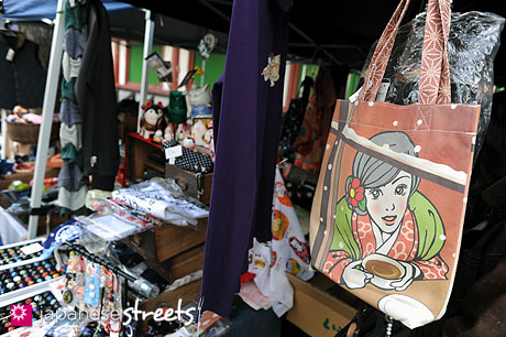 Booth at Japanese temple market