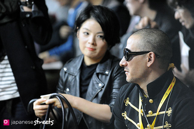 111022-3159: International Fashion Correspondent Evan 'Czar at a fashion show at the Japan Fashion Week in Tokyo