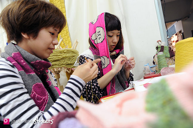 111103-6007: Students at work at the Culture Festival of Bunka Fashion College in Tokyo