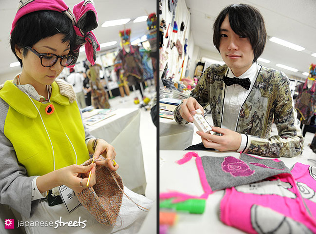 111103-5980-111103-5983: Students at work at the Culture Festival at Bunka Fashion College in Tokyo
