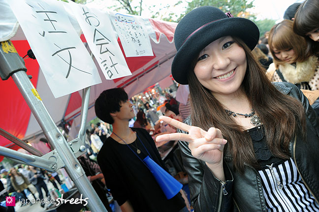 111103-6343: A student at the Culture Festival at Bunka Fashion College in Tokyo