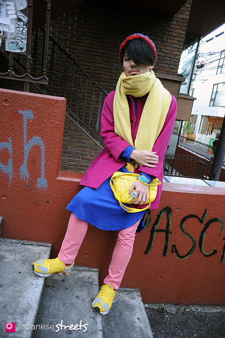 111229-1987: Japanese street fashion in Harajuku, Tokyo ( Lacoste, NIKE, The Ginza Special)