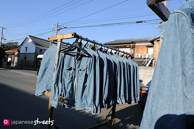 101104-6463 - Washed denim jackets at a Kouritsu factory in Okayama, STUDIO D'ARTISAN's owner