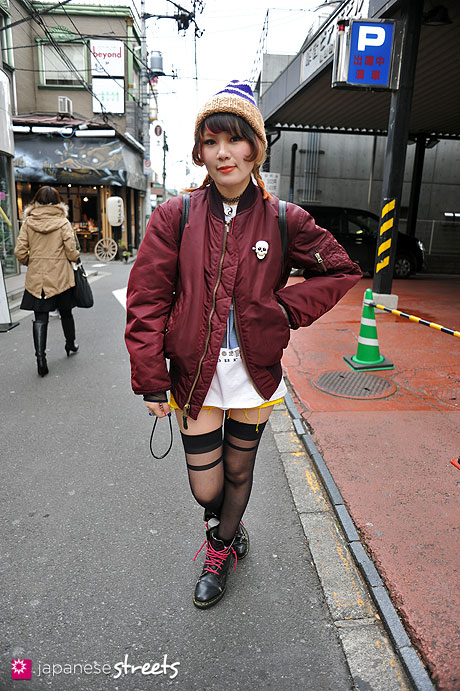 120211-5855 - Japanese street fashion in Harajuku, Tokyo (Hair Factory dub, DELTA, Music Legs, Dr.Martens, GIANNI VERSACE)