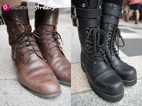 Japanese Street Fashion — Laced Boots