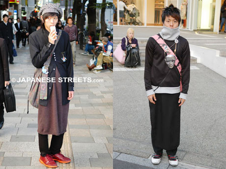 japan men fashion a dress for men that was