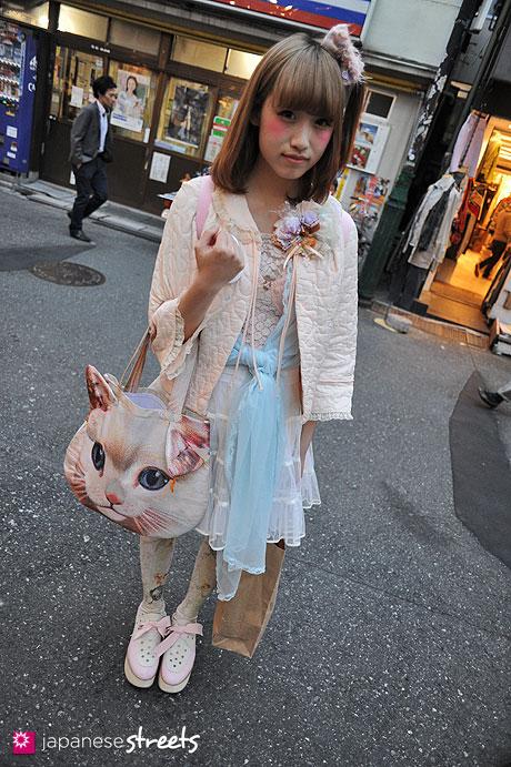 120419-1348: Japanese street fashion in Harajuku, Tokyo (Uchu Kaihatsu, Barbizon, Forever21, Grimoire, Tokyo Bopper, ahcahcum, SPANK!)