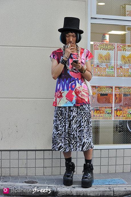 120814-0475 - Japanese street fashion in Harajuku, Tokyo (KMK, SUPRA)