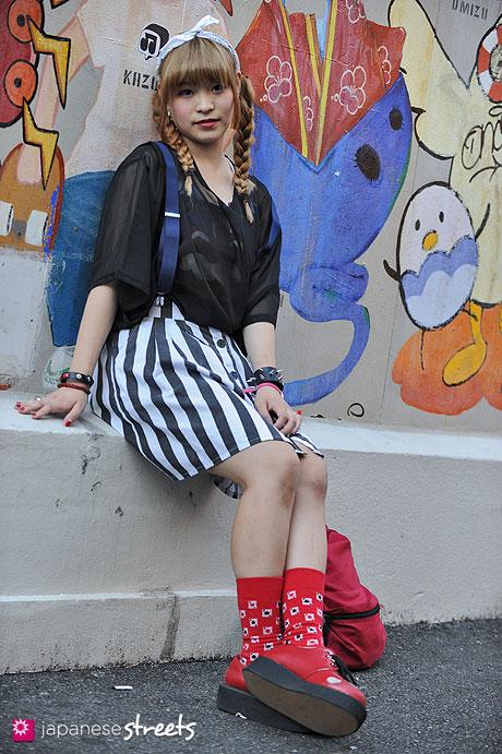 120819-2166 - Japanese street fashion in Harajuku, Tokyo (Shima, Monomania, Bodyline)