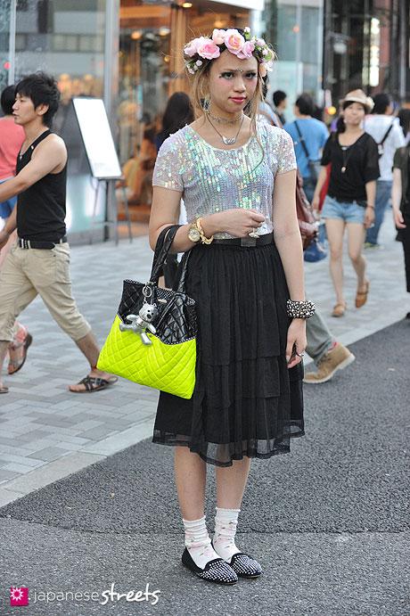 120908-7076 - Street fashion in Harajuku, Tokyo (Shiseido, TOPSHOP, Baby, the stars shine bright)