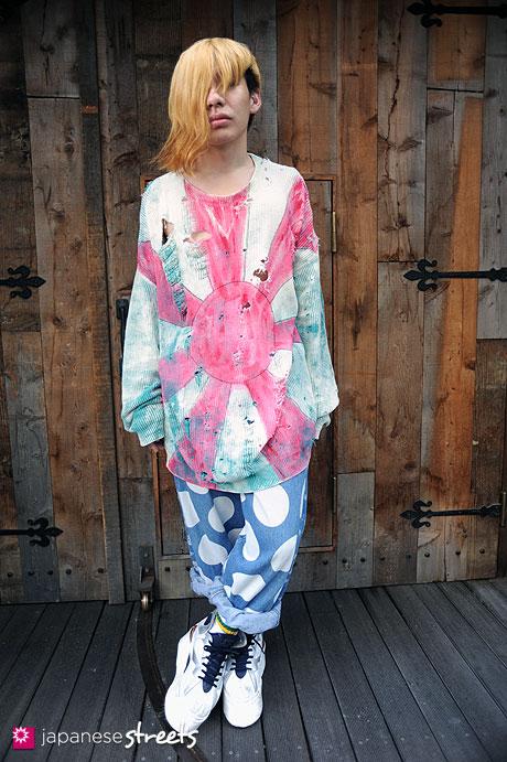 110824-8669: Harajuku, Tokyo, the hair G, NINCOMPOOP CAPACITY, Vivienne Westwood, Nike Jordan
