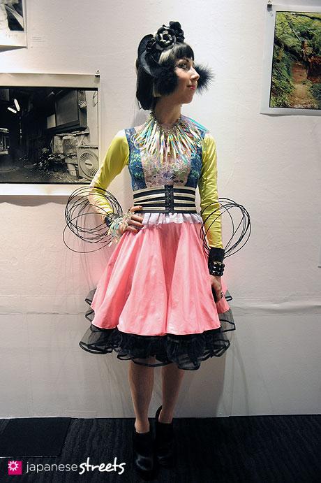 111020-0607: Misha of Fashion Tubuyaki at the Japan Fashion Week in Tokyo