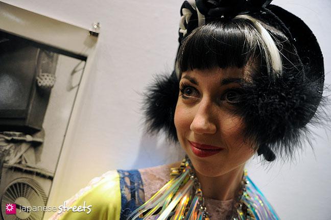 111020-0623: Misha of Fashion Tubuyaki at the Japan Fashion Week in Tokyo