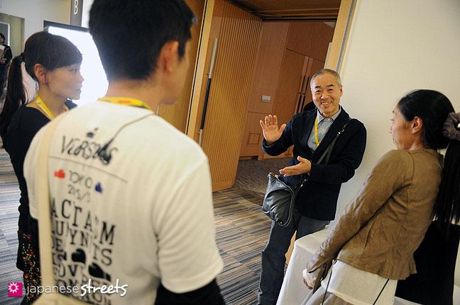 111022-3975: Japan Fashion Week Organization Senior Director Kenji Yamazaki during the Japan fashion Week in Tokyo