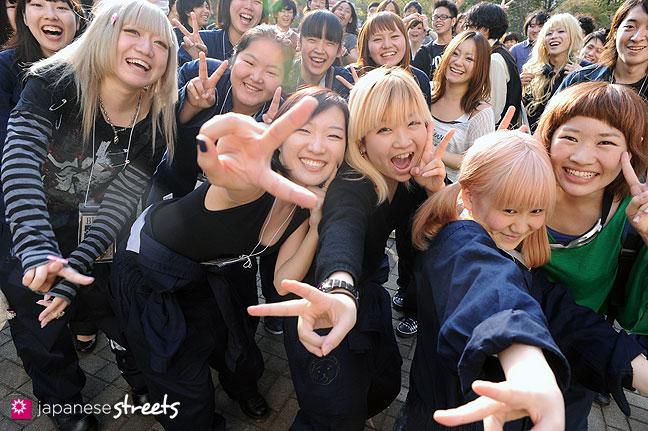 111104-6993: Bunka students at the Culture Festival of Bunka Fashion College in Tokyo