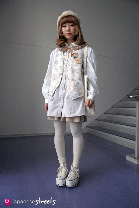 110526-6297-AY: Japanese street fashion in Shibuya, Tokyo (Keisuke Kanda, Converse)