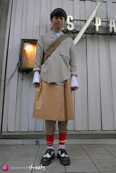 110605-7007-AY: Street fashion in Harajuku, Tokyo: Dr.Martens, BROCANTE ANTIQUES