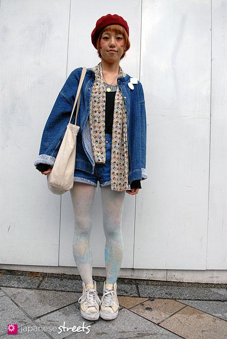 111112-6721-AY: Japanese street fashion in Harajuku, Tokyo (Phoenix, Heritage Stone, Levi's)