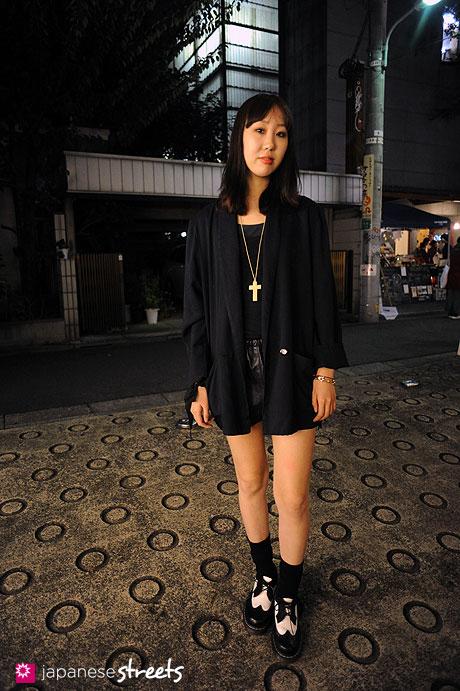 111112-8372: Japanese street fashion in Harajuku, Tokyo: ZARA, Puma x Hussein Chalayan