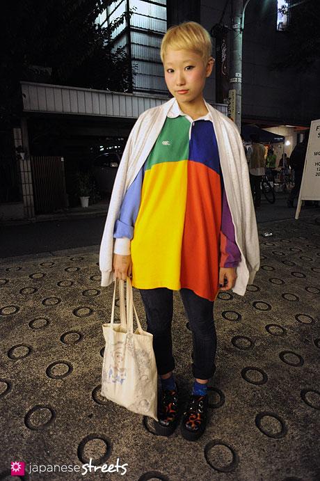 111112-8414: Japanese street fashion in Harajuku, Tokyo: DaB, ASH CREEK, N.Y.L.A., Kummy