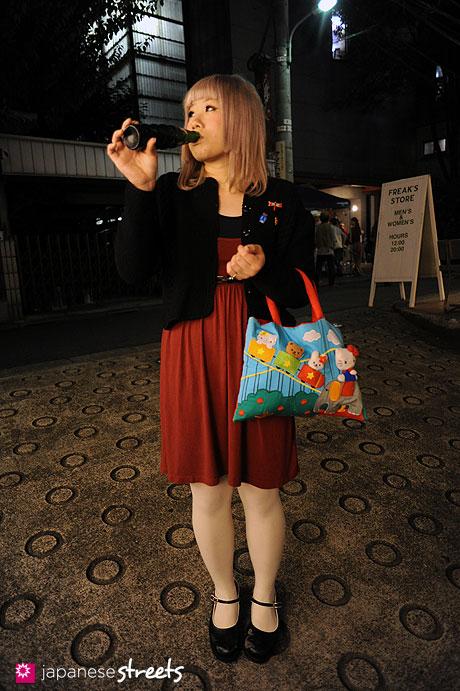 111112-8581: Street fashion in Harajuku, Tokyo: Velo, H&M, Bunkaya Zakka