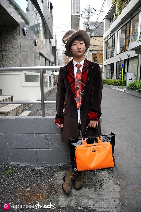 111123-0075: Japanese street fashion in Harajuku, Tokyo: Harajuku, Tokyo, Jago, ZUA, Milk Boy, Vivienne Westwood