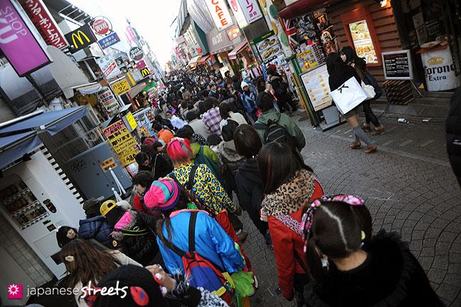 120107-2248: Takeshita-dori in Harajuku, Tokyo