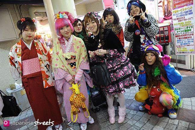 120107-2294: Japanese street fashion in Harajuku, Tokyo