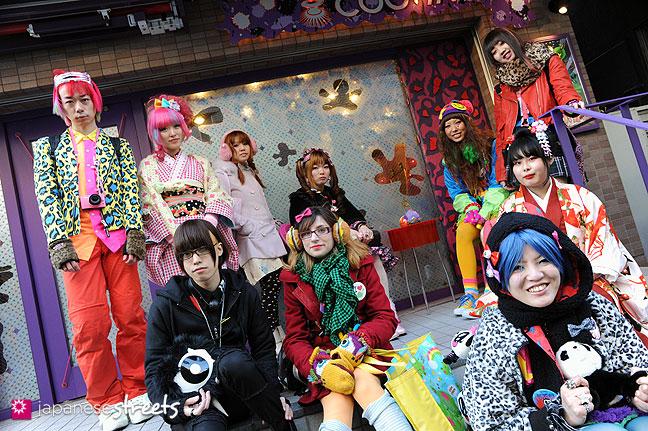 120107-2326: Japanese street fashion in Harajuku, Tokyo