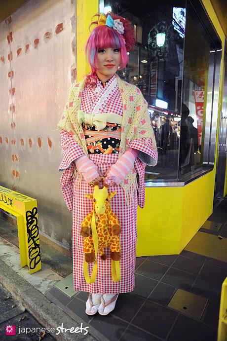 120107-2511: Japanese street fashion in Harajuku, Tokyo (6%DOKIDOKI, party baby)