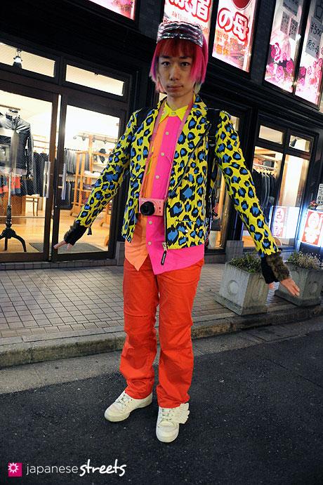 120107-2542: Japanese street fashion in Harajuku, Tokyo (COO;YA, W&LT, SUPER LOVERS, adidas × Jeremy Scott)