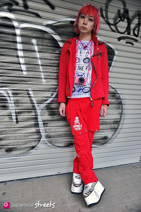 120204-5452.1: Japanese street fashion in Harajuku, Tokyo (COO;YA, SUPER LOVERS, W&LT, Buffalo, Nikon)