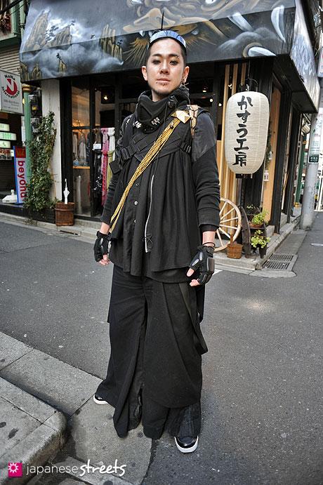 120303-7117: Japanese street fashion in Harajuku, Tokyo (TIKKE, Banal Chic Bizarre, ATO, Takuya Angel)
