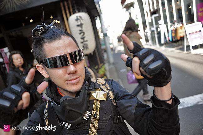 120303-7135: Japanese street fashion in Harajuku, Tokyo (TIKKE, Banal Chic Bizarre, ATO, Takuya Angel)