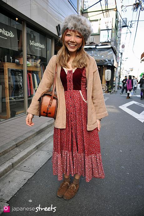 120303-7233: Japanese street fashion in Harajuku, Tokyo (Celsus, Mart, GUNNE SAX, Browny)
