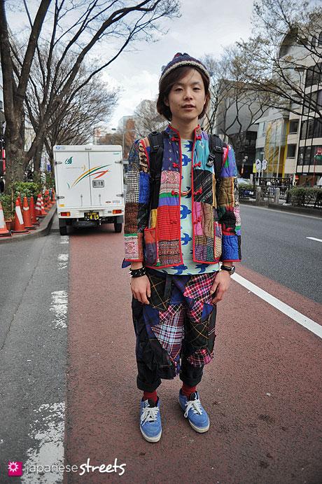 120407-9470: Japanese street fashion in Harajuku, Tokyo (Josephine, Né-net, Comme des Garçons, VANS, SUPREME, TISSOT)